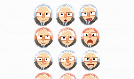 "Scott Nash creates ""Berniemoji"""