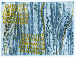 Image from Previous Page: Elizabeth Jabar, 'Untitled', etching and screen print on paper
