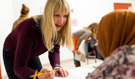 MAT Students at MECA&D Inspire and Heal Through Teaching Visual Art