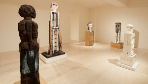 Huma Bhabha, Unnatural Histories, installation view, 2012. Courtesy of MoMA PS1.