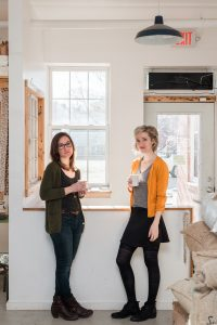 Photo of Heidi Sistare (L) and Kelly Shetron (R) by Eric Schnare