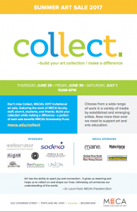 Collect Summer Art Sale Poster