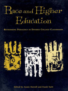 Book cover of Race and Higher Education Book