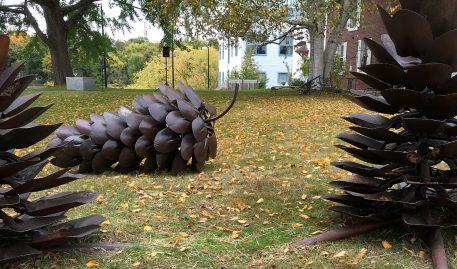MECA Alumni Help Shape New Westbrook Sculpture Garden